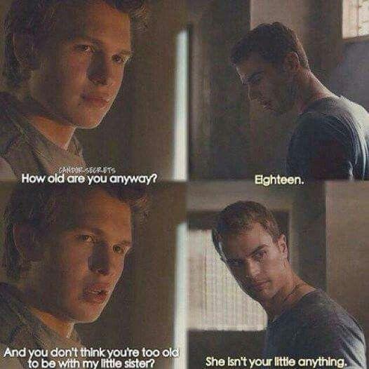 Book Quote // Divergent Insurgent Allegiant // Tobias Eaton // Caleb Prior