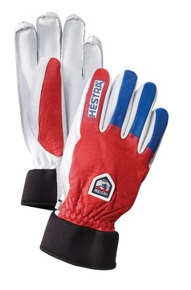 Hestra Army Leather Wool (Red / Royal Blue)