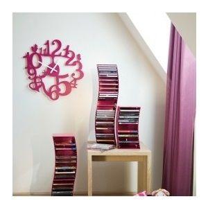 Plastové nástěnné hodiny pi:p, růžové