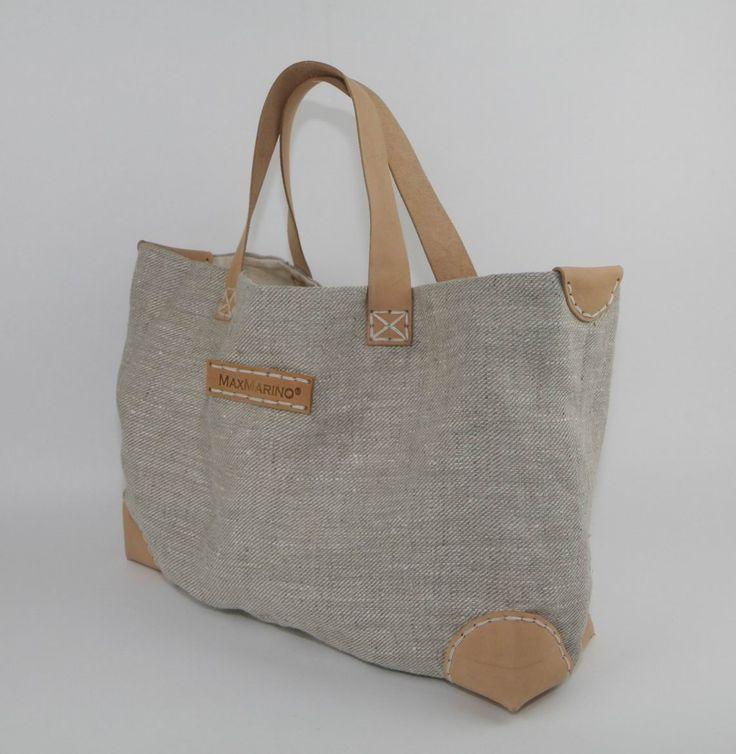 Shopping Bag Linen | MaxMarino