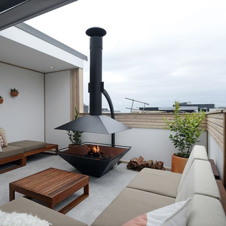 Simon U0026 Shannon | Apartment 6 Reveal 2 | Roof Terrace | The Block Shop  .  Roof TerracesOutdoor Fire PitsIndoor ...