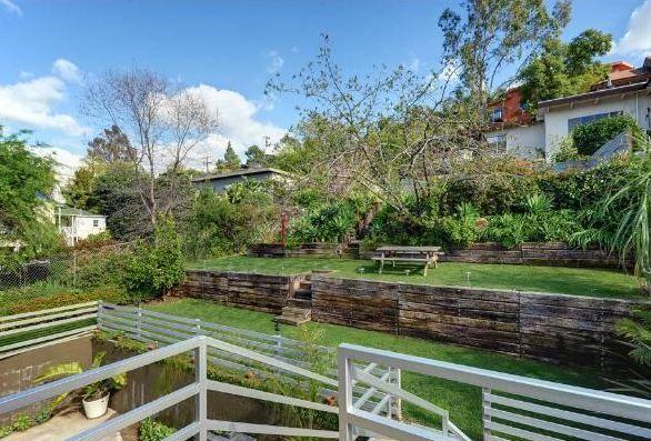 69 best images about backyard landscape on pinterest for Terraced yard ideas
