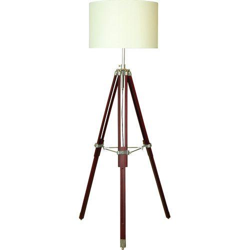 The Lighting & Interiors Group Tripod Floor Lamp in Cream & Chocolate
