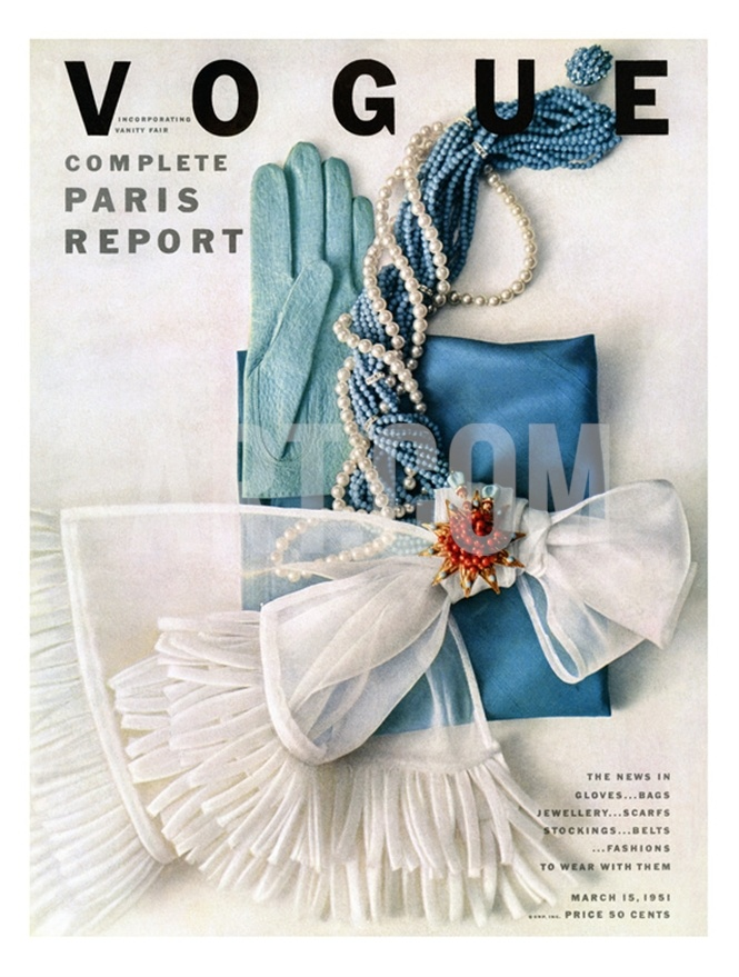 vogue cover, march 1951 #classy