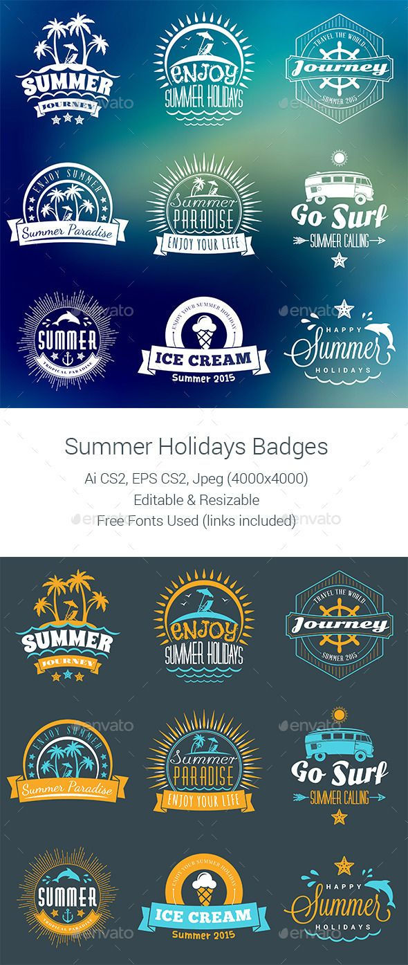 Summer Holiday Badges #labels Download: http://graphicriver.net/item/summer-holiday-badges-/11841334?ref=ksioks