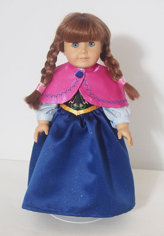 Frozen Anna 18 Doll Clothes for American Girl by ElliesStitches, $40.00