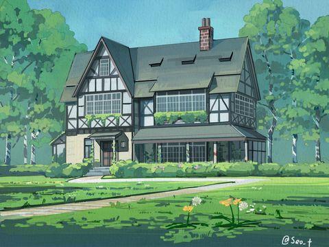 ► Maison d'Amelia Evans 7186f4f355f9ddece886ac8566bbcefd--pixiv