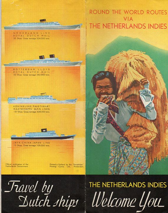 Round the World Routes via The Netherlands Indies 1940