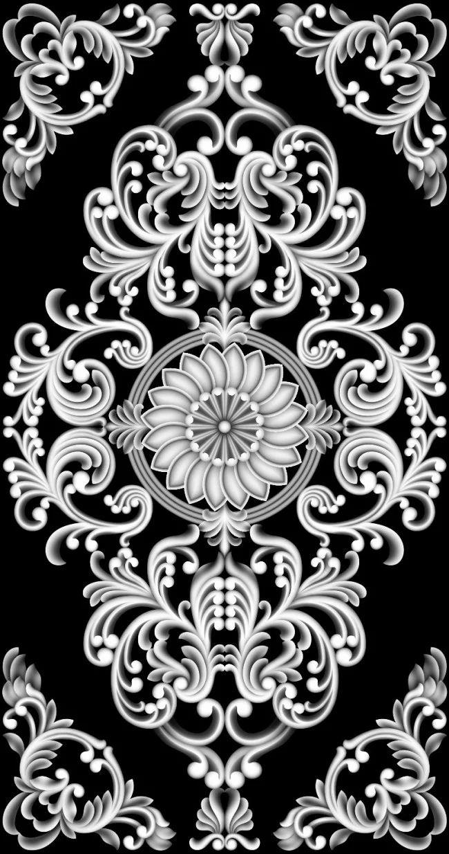 灰度图精雕图浮雕洋花模板下载(图片编号:113_360图片