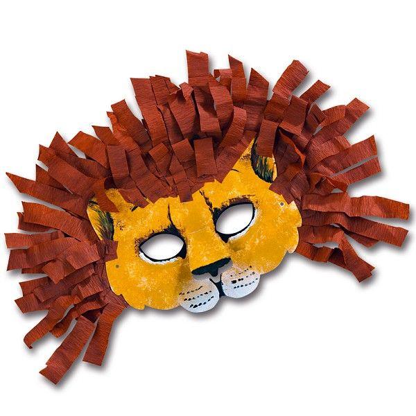 #Löwenmaske, #Löwenkostüm | Sei der König der Faschingsmasken mit dieser selbst gebastelten Löwenmaske: http://www.trendmarkt24.de/kindermasken-katze-6er-pack.html#p