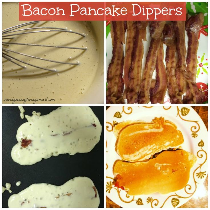 Bacon Pancake Dippers | Recipes - 95.5KB