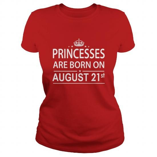 Awesome Tee 0821 August 21 Birthday princess born Shirts T Shirt Hoodie Shirt VNeck Shirt Sweat Shirt Youth Tee for Girl and Men and Family T-Shirts