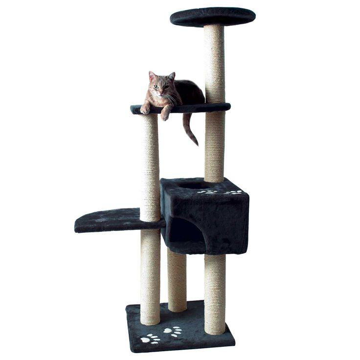 "17.5""; L X 17.5""; W X 55.75""; H, A cat scratching post allows your cat to live out the natural scratching habit without damaging your furniture and carpets. Condo and platforms provide a plush place to lounge."