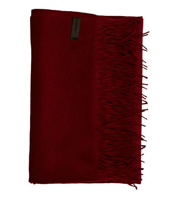 Amazing Amy - Burgundy Wool/Cashmere Scarf - 95 % Wool / 5 % Cashmere