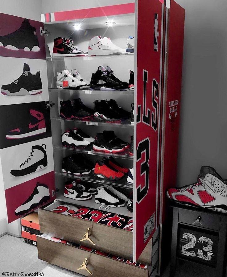 Custom Jordan Sneaker Closet.