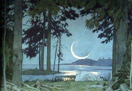 moonlight scene - ivan bilibin