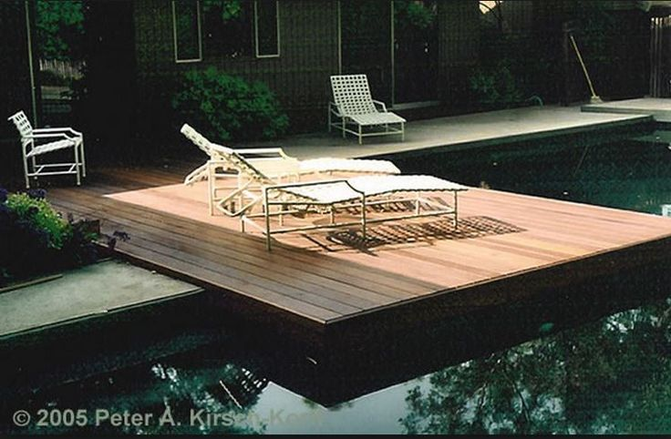 wood with concrete pool deck image 1