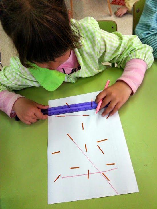 tresquatreicinc: LÍNIES AMIGUES I TRIANGLES Geometria, experimentació amb el regle, triangles. P5