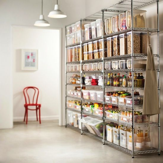 7 Ways To Organize Using Wire Shelving // Pantry organizing using industrial metro shelves