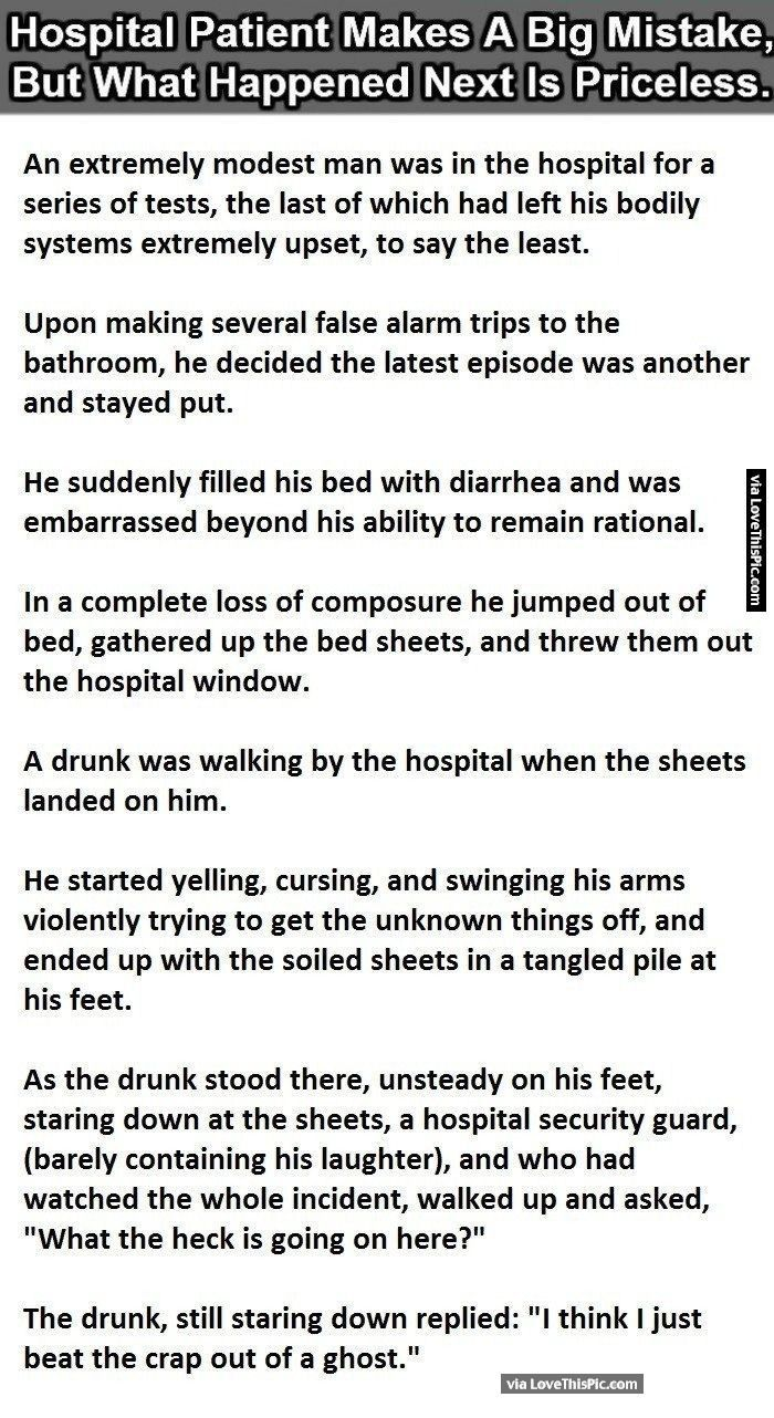 Quotes about being sick in bed funny quotes about being sick in bed - Hospital Patient Makes A Big Mistake But What Happens Next Is Priceless Funny Jokes Story Lol Funny Quote Funny Quotes Funny Sayings Joke Hilarious Humor