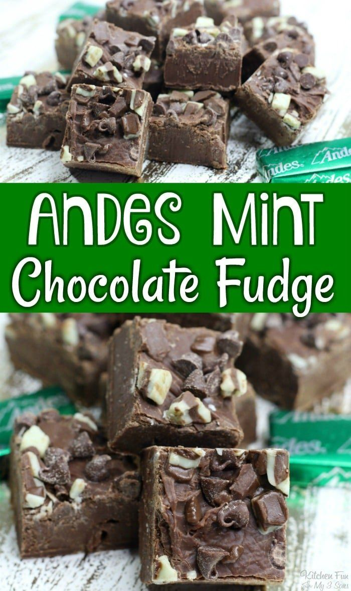 Andes Chocolate Mint Fudge Is The Perfect Pairing Of Chocolate And Mint Rich And Creamy This Easy Fudge Re In 2020 Mint Chocolate Andes Mint Chocolate Fudge Recipes