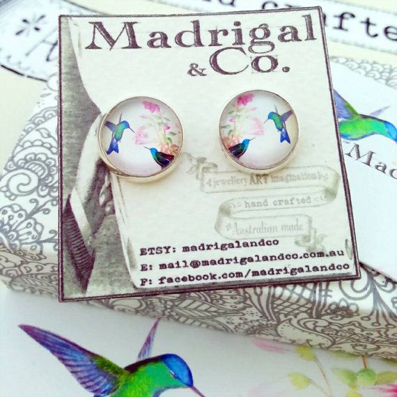 Check out this item in my Etsy shop https://www.etsy.com/au/listing/237707785/hummingbird-earrings-set-in-silver