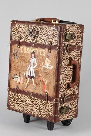 cute vintage luggage bag