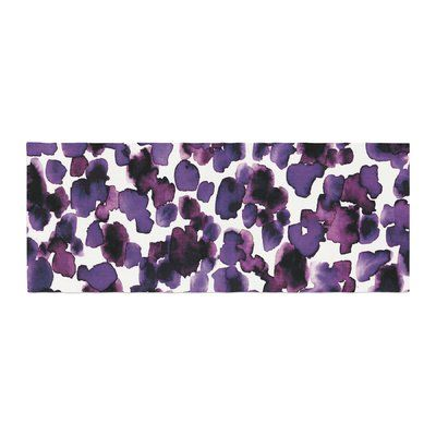 East Urban Home Ebi Emporium Giraffe Spots Bed Runner Color: Lavender