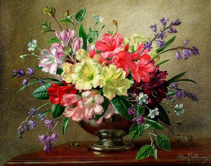 343 best Albert Williams images on Pinterest | Paintings of flowers ...