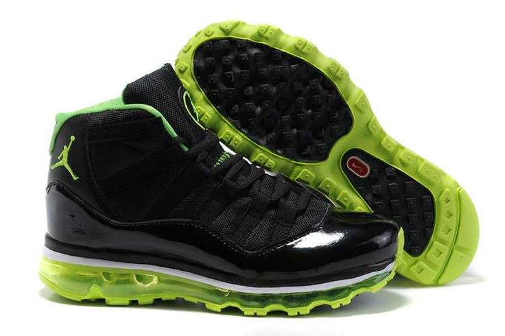 Nike Air Jordan 11 Air Max 2009 Fusion Black/Green-Green/Black