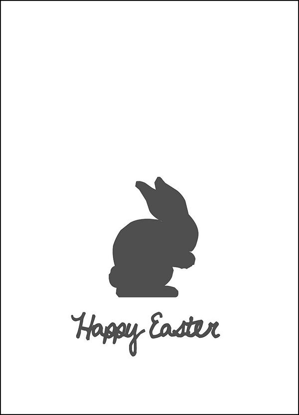 Free printable Happy Easter bunny - Grafik Osterhase.