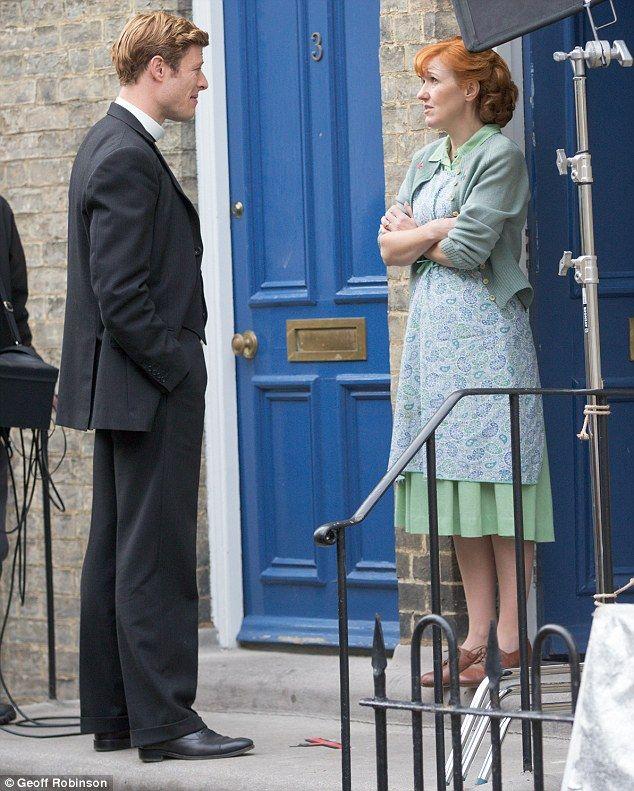 James Norton, Kacey Ainsworth and director Tim Fywell on the set of Grantchester Daily Mail