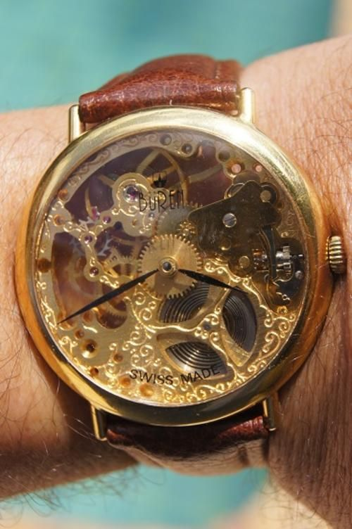 buren watches | Rare & Collectible Watches - BUREN SKELETON MANUAL WIND TIMEPIECES ...