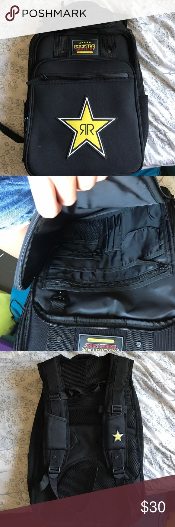 Rockstar backpack Brand new rockstar energy drink back pack! Never used rockstar Bags Backpacks