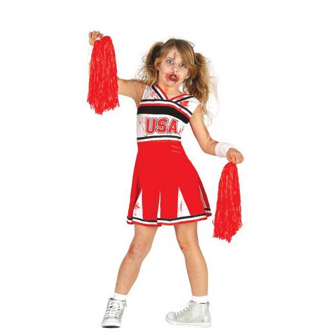 Déguisement Cheerleader Zombie fille #costumespetitsenfants #nouveauté2017