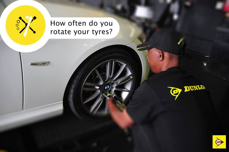 It's recommended to get your tyres rotated every 8,000 to 10,000km. #DunlopTyresSA #TyreRotation
