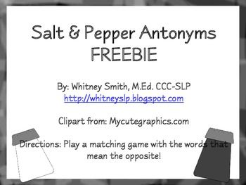 49 Best Images About Free Synonyms Antonyms Printables On