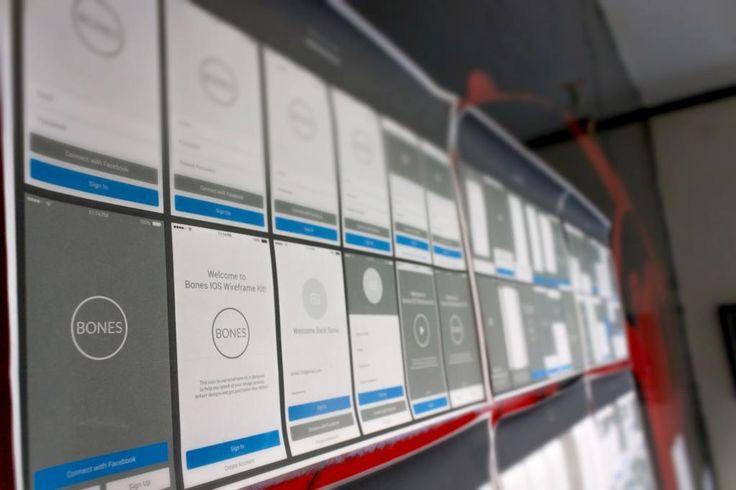 BONES IOS Wireframe Kit - Download free sample here: https://gumroad.com/l/LmwOh #ios #IPhone #design #UI #UX #freebie