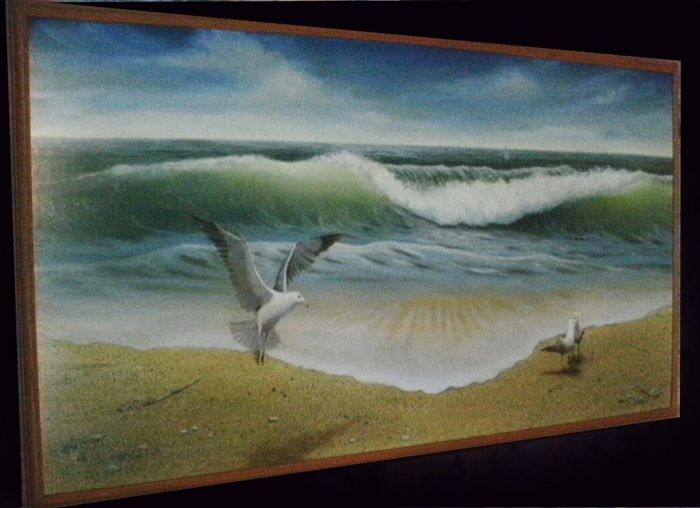 """1991....33"""" x 60""""   Oil Painting by...Greg Hand"""