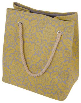 Raymond Waites Large Printed Laundry Tote with Rope Handle - Beach ...