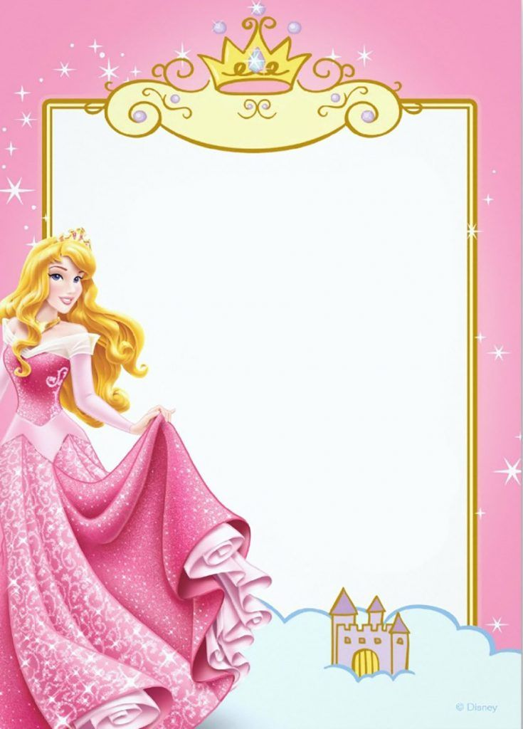 photograph about Printable Princess Picture named Printable Princess Invitation Card playing cards Princess
