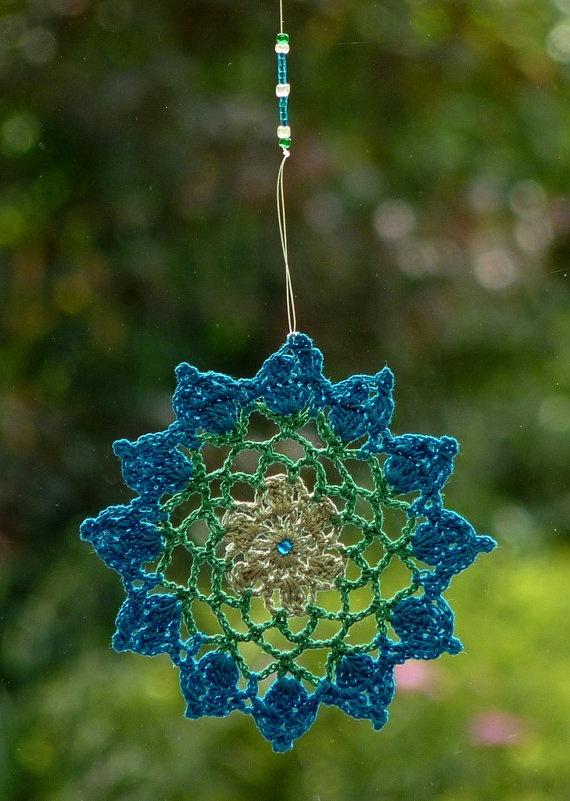 crochet window mandala-no pattern...just for inspiration