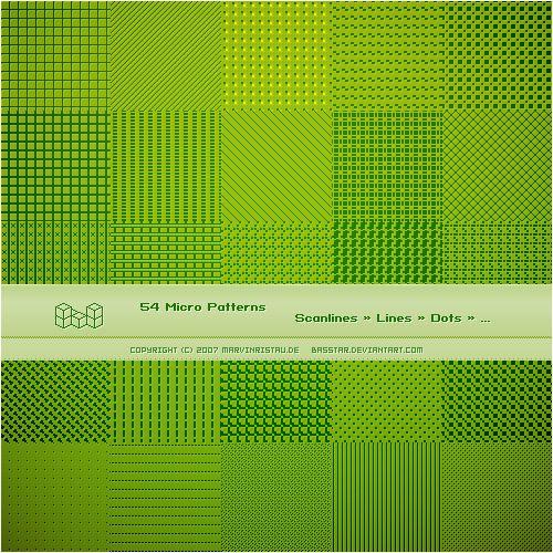 Micro Patterns by basstar.deviantart.com on @deviantART