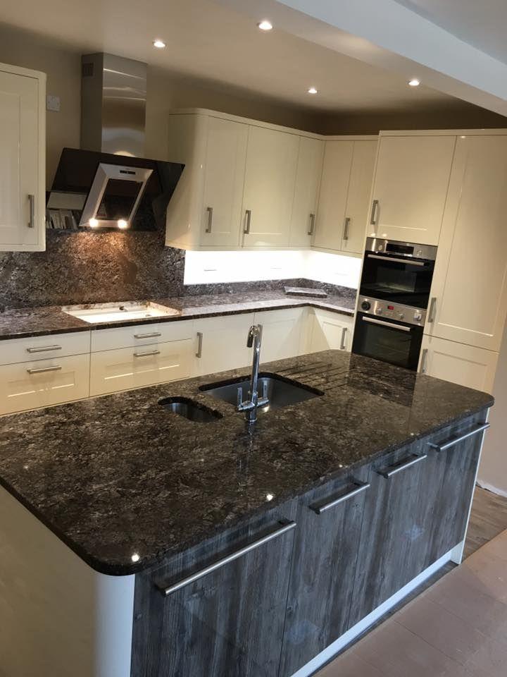 Ferrato Granite Kitchen Island And