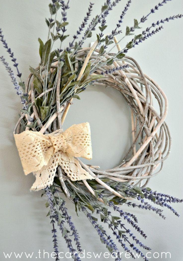 Easy Spring Wreath Idea