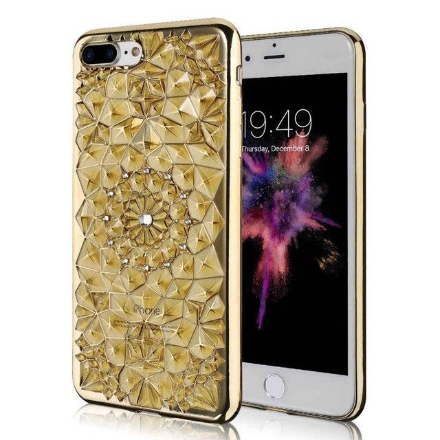 High quality Diamond Skin covers for iphone 6 6s 6 plus 6s plus with electroplating soft back cover
