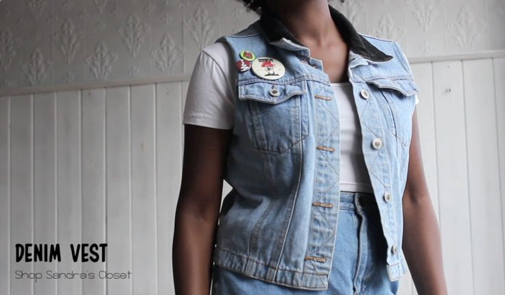 Another great find from forlessapparel! A vest found in the children's section, decorated with pins from our store!