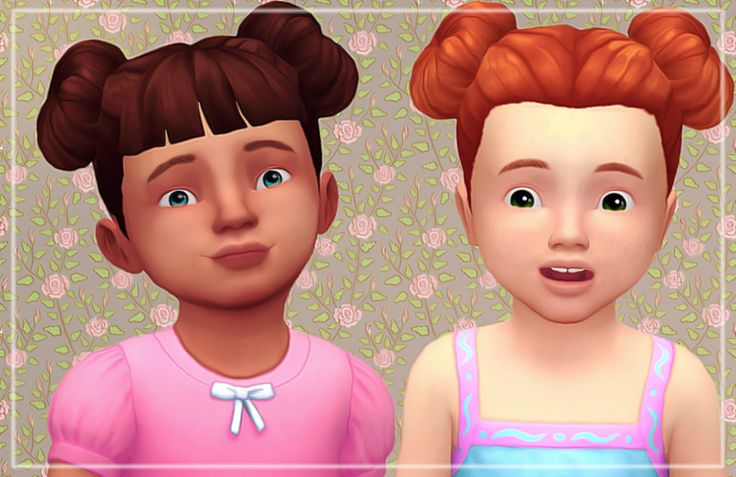 I converted my Sunflower hairs for the little ones! They are for both female and male :* Download-> Bangs No Bangs