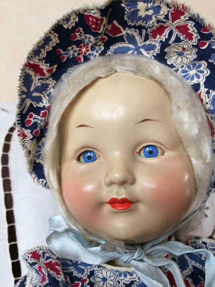 Кукла Антикварная.  Пресс - Опилки.  40-х  годов.