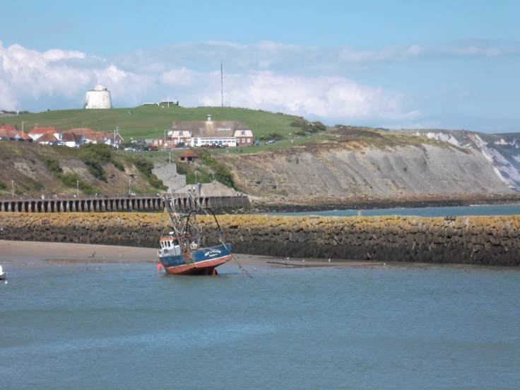 The cliffs and the Martello tower